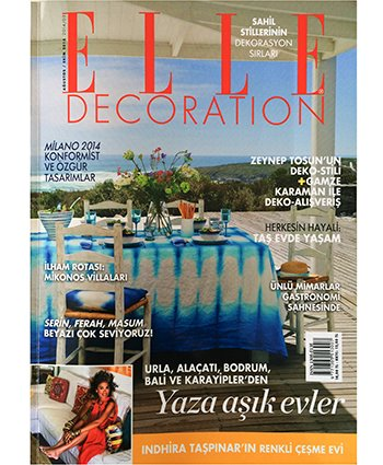 Elle Decoration  | Ağustos 2014